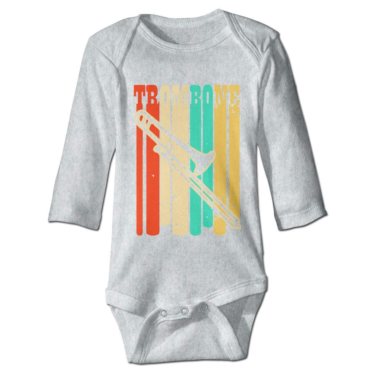 A14UBP Infant Babys Long Sleeve Baby Clothes Trombone Unisex Button Playsuit Outfit Clothes