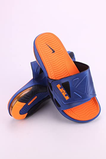 NIKE 578251-460 Men AIR Lebron 2 Slide Elite Hyper BlueBright Citrus