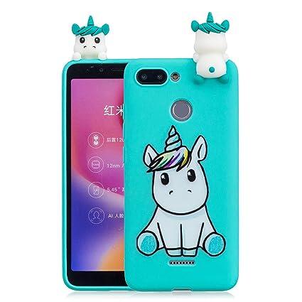 af71ce0c78f Yobby 3D Cartoon Case for Xiaomi Redmi 6,Slim Soft Silicone Cute Animals  Pattern Case