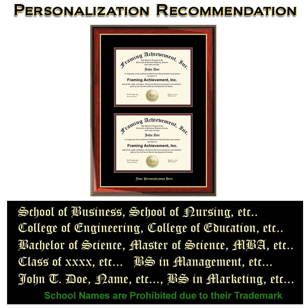 Amazon.com: Double Graduation Diploma Frame Dual University Majors ...