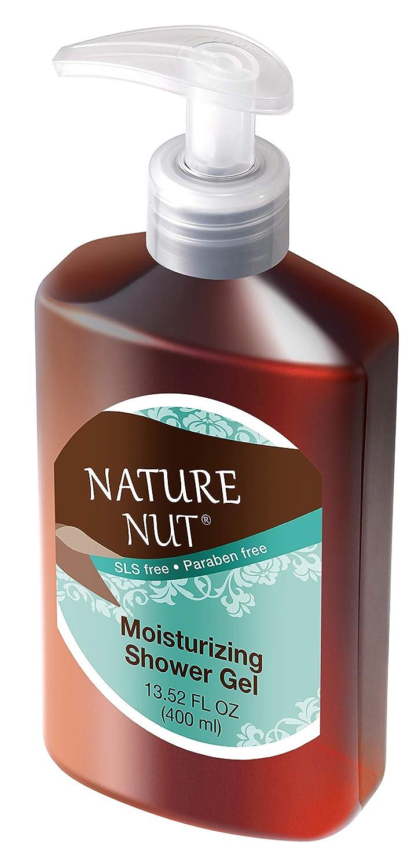 Nature Nut Shower Gel Body Wash Moisturizer - Hypoallergenic Moisturizing Bodywash 5 Nut Oil Hydration Formula for Women and Men Sensitive Dry Skin