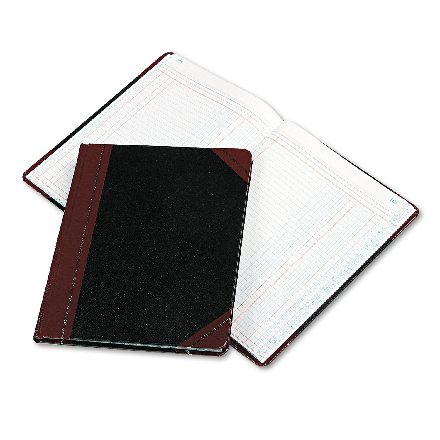 Boorum & Pease 211502 Columnar Accounting Book, Two Column, Black Cover, 150 Pages, 8 1/8 x 10 3/8
