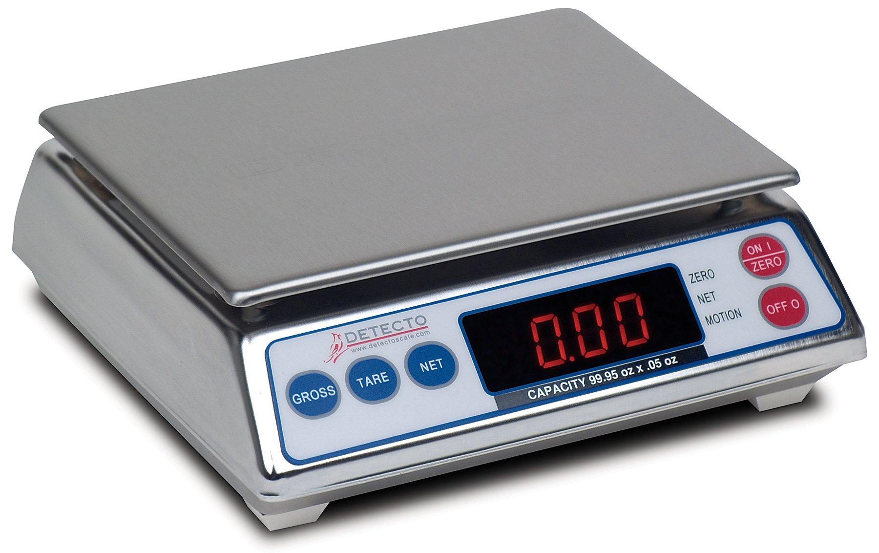 Detecto AP-6 All Purpose Scale, 6 lb. Capacity, 6.75'' x 5.25''