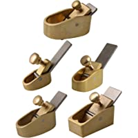 Yibuy 5x Violin Cello Making Tool Brass Planes for Luthier Hand Making Golden