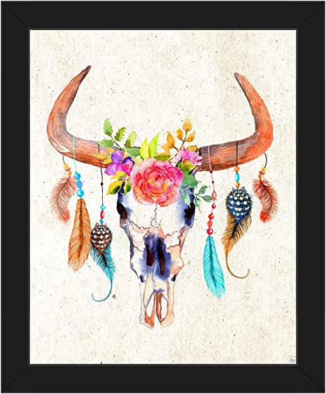 Bull Skull Painting