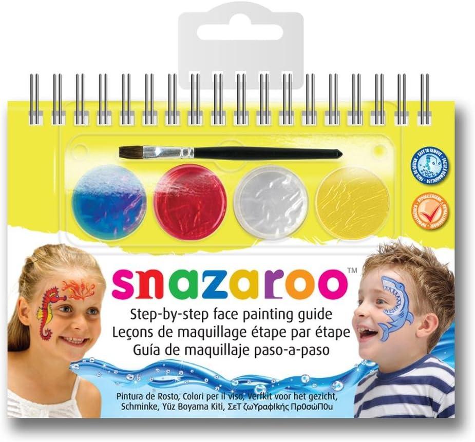 Snazaroo - Manual A6 de maquillaje con pintura facial y guía, maravillas marinas: Amazon.es: Juguetes y juegos