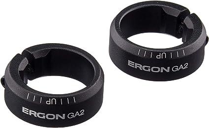 Black ERGON Unisexs GA2 Grips Standard