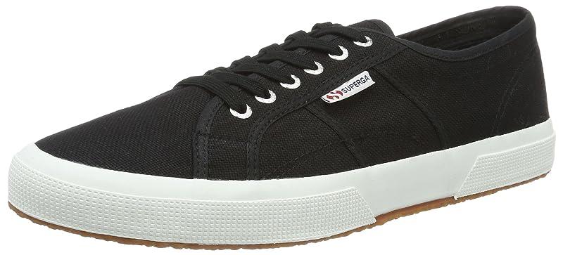 Superga 2750 Cotu Classic Sneakers Low-Top Unisex Damen Herren Schwarz/Weiß