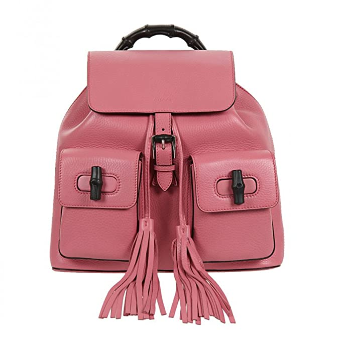 b57321cc65b6 Gucci Bamboo Handle Small Leather Fashion Backpack 370833, Bubblegum Pink:  Amazon.ca: Clothing & Accessories
