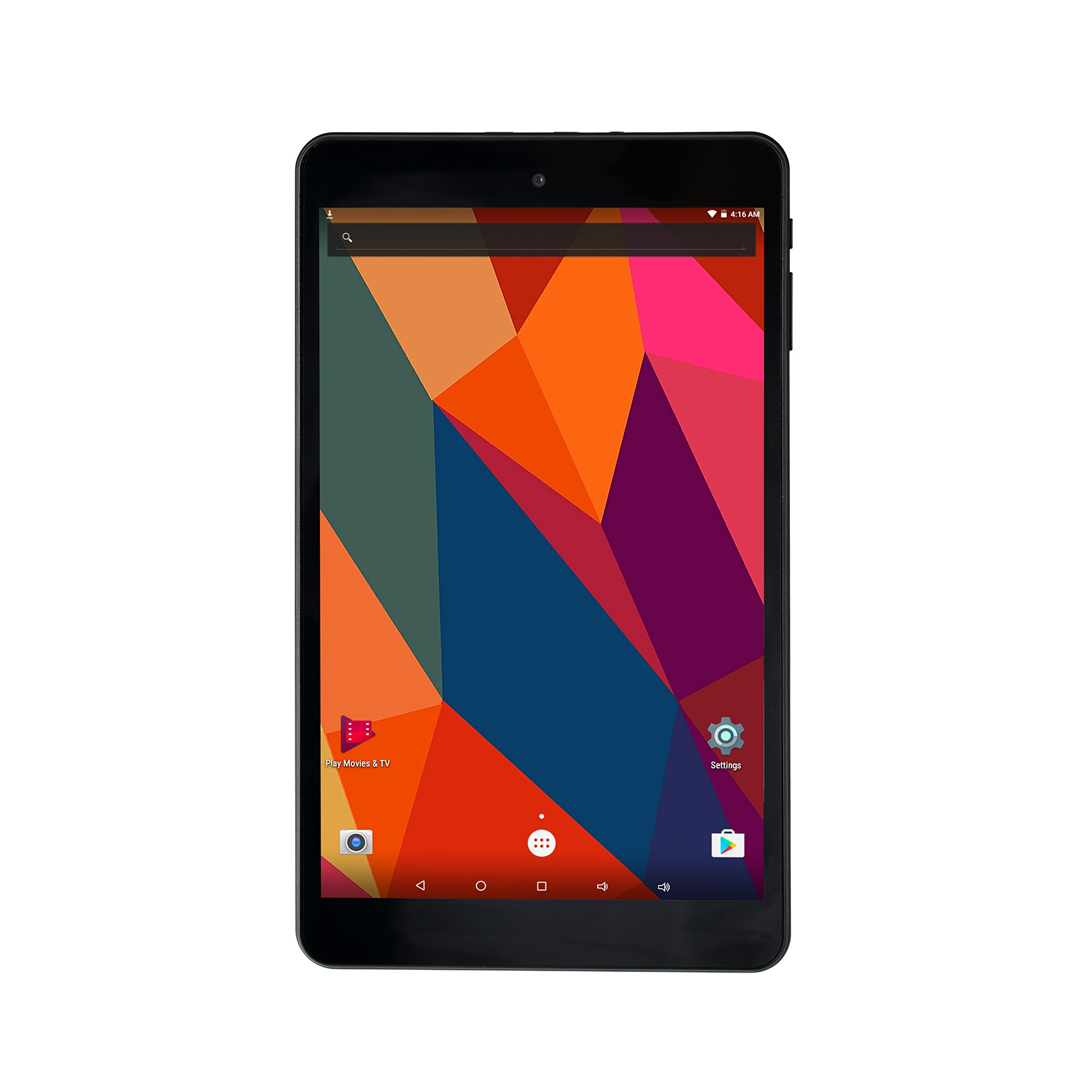Black 8 inch Tablet, Quad core Cortex A53, 1GB RAM, 16GB Storage, HD 1280800 IPS Display, Dual Camera 2.0MP + 5.0MP, Android 6.0, WiFi, Bluetooth 4.0, GPS, FM,HDMI Output