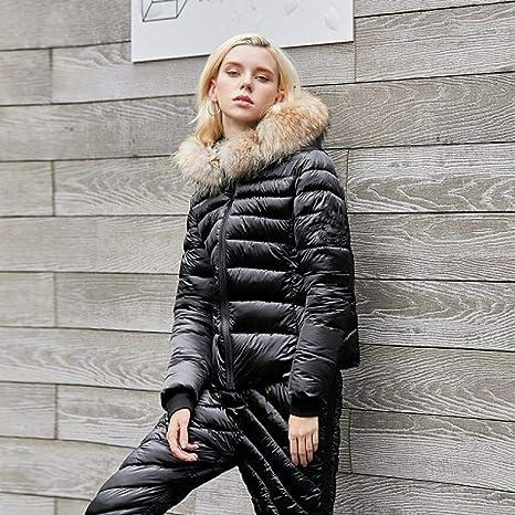 KTUCN Traje de Invierno para Mujer Pantalones de Chaqueta de ...