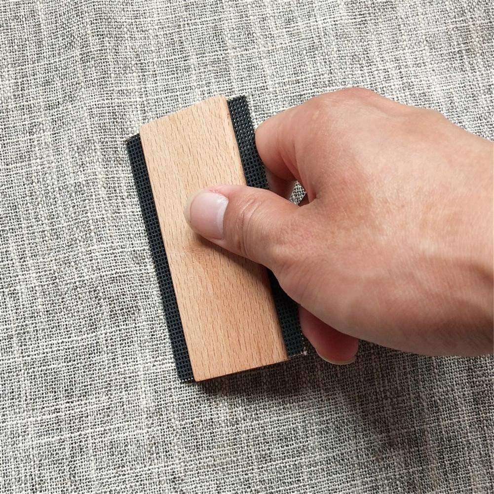 lennonsi 2 ST/ÜCK Pullover Kamm Wollkamm Holz Stoff Kamm Trimmer Holz Fusselentferner Kleidung Pullover Tragbar umweltfreundlich
