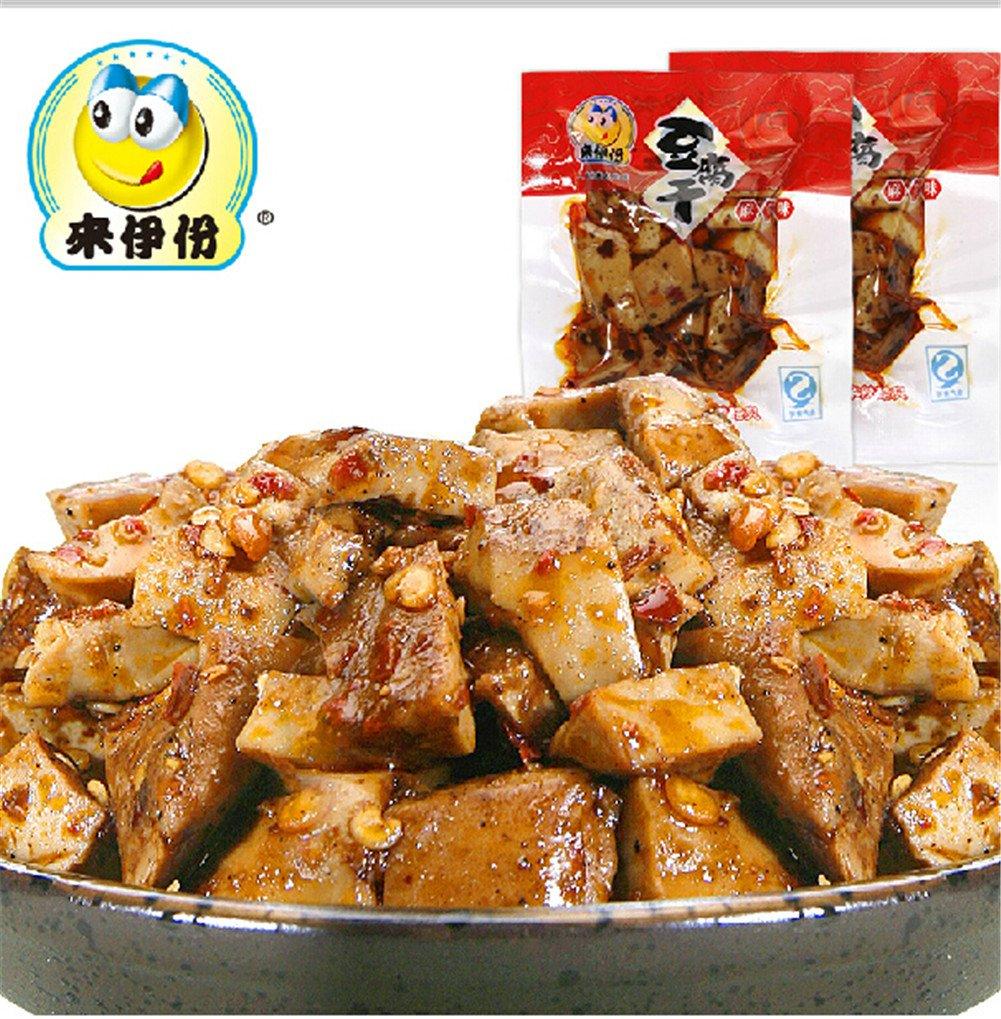 Qyz@ Chinese Sichun Special Snack Food:laiyifen Spicy Flavor Tofu 250g*2 by Qyz