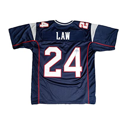 1e887728 Ty Law Autographed Jersey - Autographed NFL Jerseys at Amazon's ...