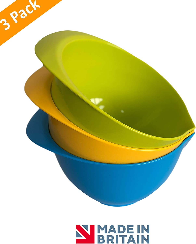 Multicolore Fackelmann Ciotola per Mix con Coperchio da 2 Litri Plastica