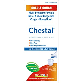 Amazon Com Boiron Chestal Adult Cold Amp Cough Syrup 6 7
