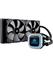 Corsair H115i PRO RGB water cooling (two ML140 fans, advanced software control of RGB lighting and fan speed, zero RPM fan mode) black
