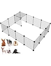 """LANGXUN 16pcs Metal Wire Storage Cubes Organizer, DIY Small Animal Cage for Rabbit, Guinea Pigs, Puppy 