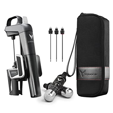 Coravin Model Two Plus Pack Wine Preservation System, 2, Includes 2 Argon Capsules, Replacement Needles and Carry Case
