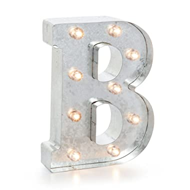 Darice 5915-703 Silver Metal Marquee Letter 9.875 -B