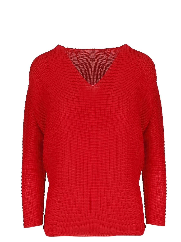 Issey Miyake Women's IM96FJ17624 Red Polyester TShirt