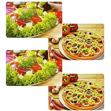 Com De Four 4 X Espacio Juego Italianos Cocina Pizza Ensalada 43