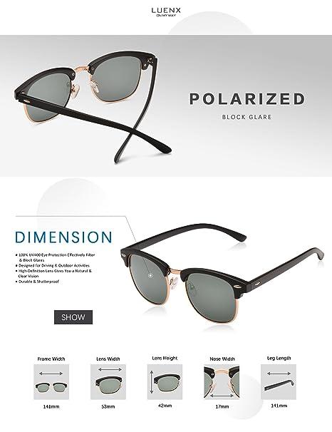 55ab711f8aa Mens Womens Clubmaster Polarized Sunglasses UV 400 Green Lenses Matte Black  Frame 51MM