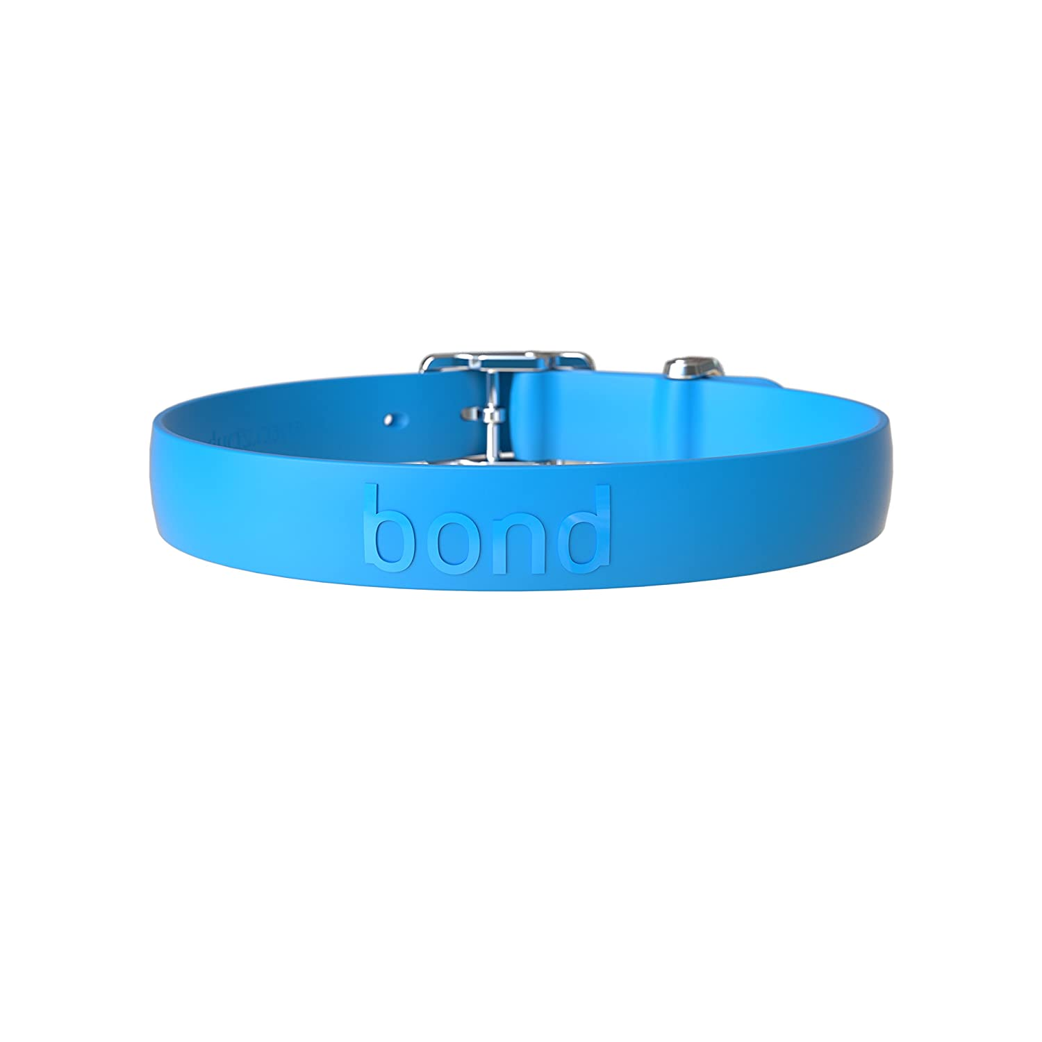 Bond Pet Products High Performance Dog Collar   Waterproof & Durable Collars for Dogs (Large, blueeberry bluee)