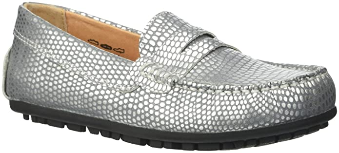 Umi Kid's Mariel Metallic Loafer, Silver, 29 M EU/11.5 M US Little Kid