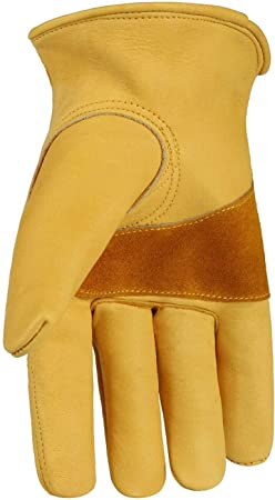Genuine Leather Heavy Duty Work Gloves Best For Tough//Rough Work Gardening
