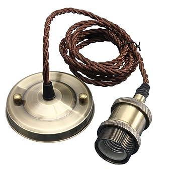 KINGSO E27 Lámpara Colgante Vintage Retro Antigua Lámpara Edison Base 110-250V Adaptador de Enchufe