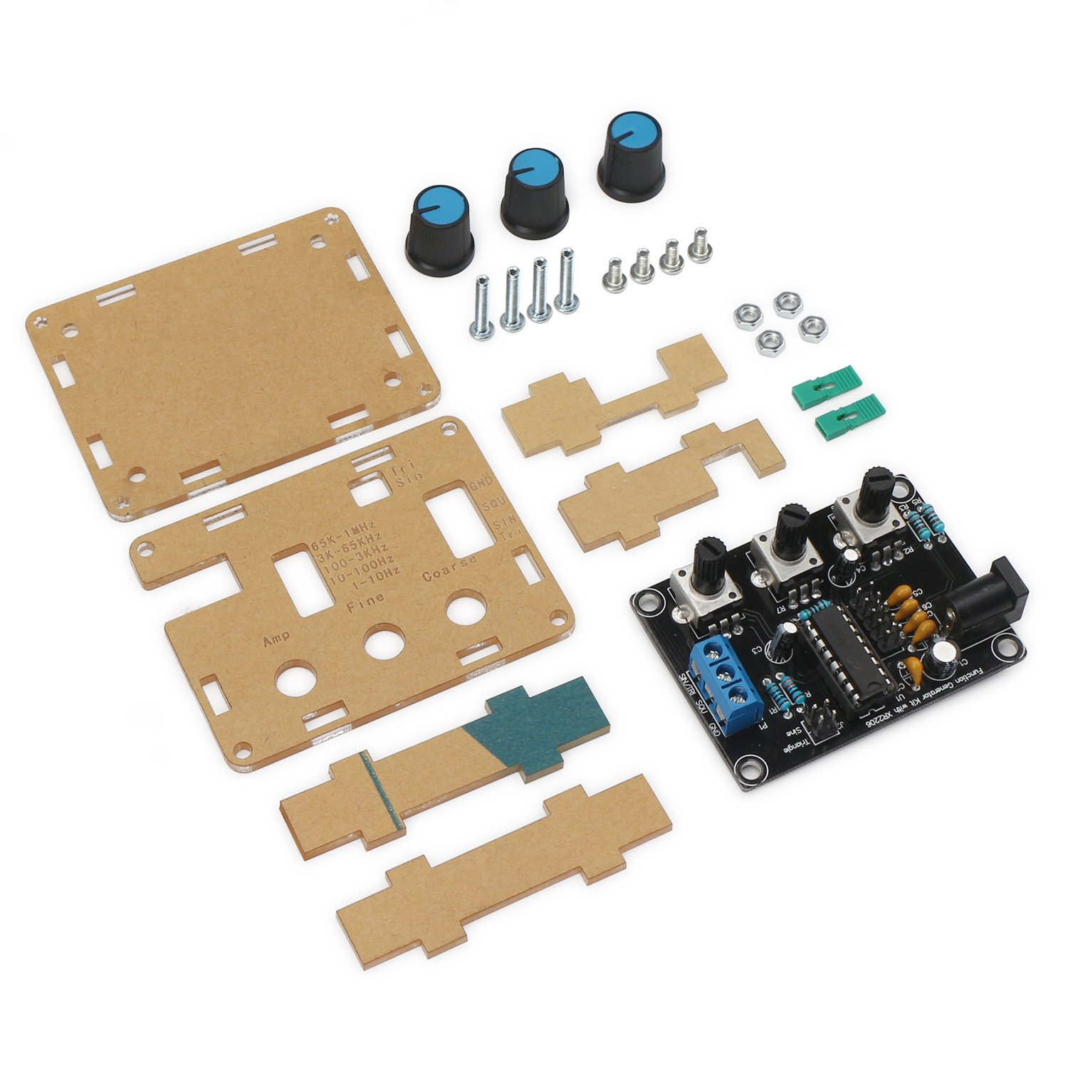 Drok Xr2206 5 Digit High Precision Signal Generator Dc 9 12v 1hz To Tri Waveform 1mhz Function Kit Square Triangle Sine Wave Module Board With