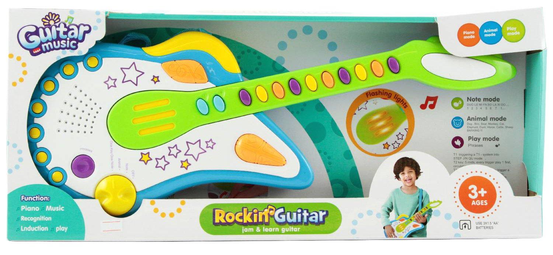 Kinder Gitarre Rocking Guitar mit Piano Mode Tierstimmen uvm Spiel AG A432769