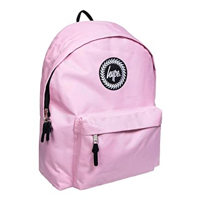7cb26ad11d59 Hype Baby Pink Badge Backpack Rucksack Bag - Ideal School Bags - Rucksack  For Boys and