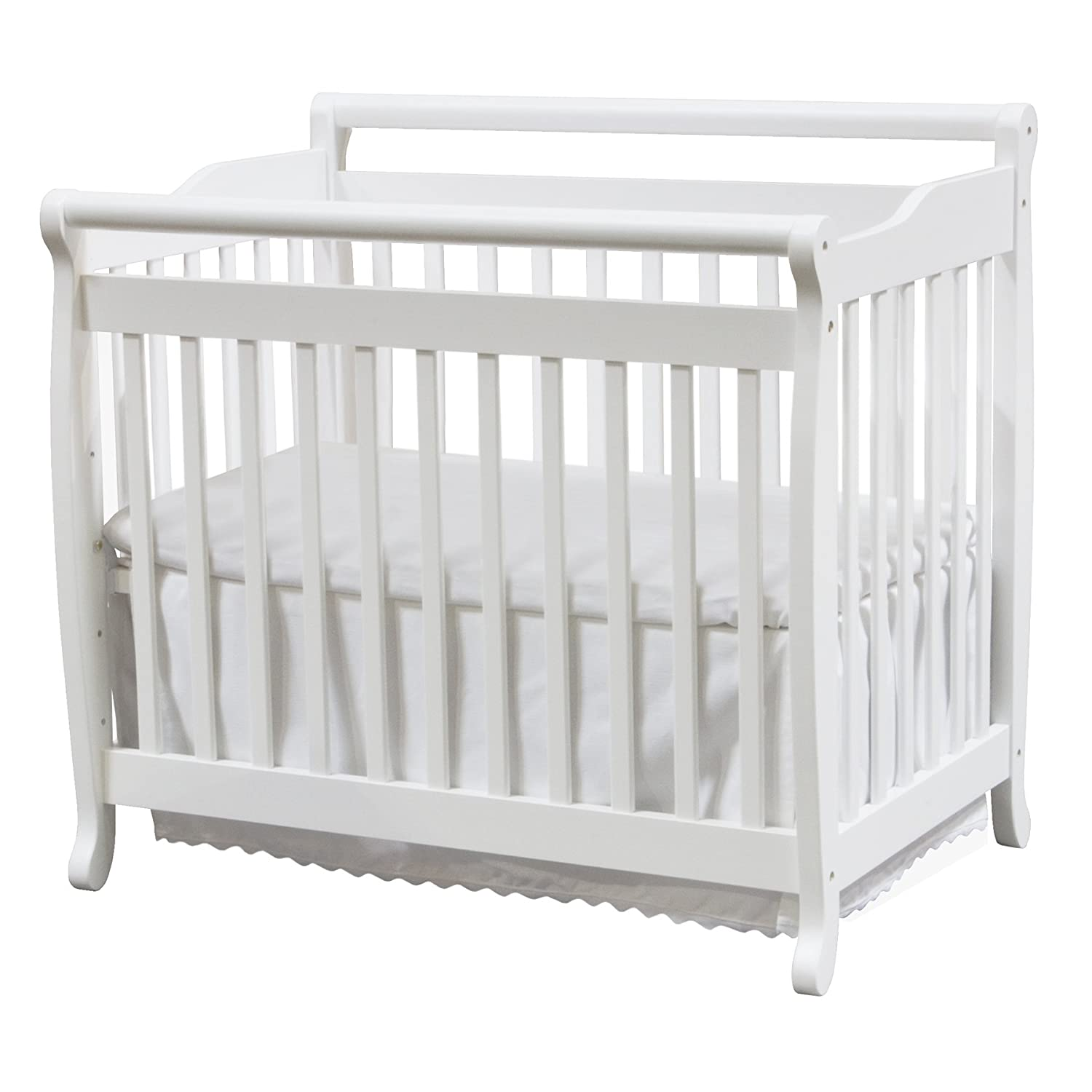 DaVinci Emily 2-in-1 Mini Crib and Twin Bed, White M4798W