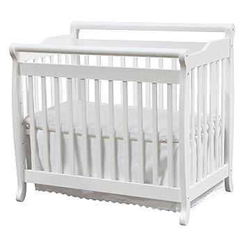 Amazon.com : DaVinci Emily 2-in-1 Mini Crib and Twin Bed in White ...