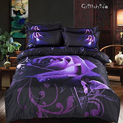 71 King Size Bed Set Purple Newest