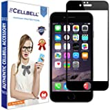 CELLBELL Full Glue Edge To Edge Tempered Glass Screen Protector For Apple iPhone 8 (Black) With Installation Kit