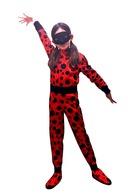 pequeños monelli Disfraz Ladybug niña Vestido de niña Miraculous ...