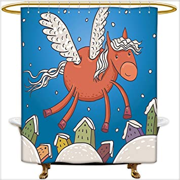 Amazoncom Design Shower Curtain Vector Illustration Of Horse With