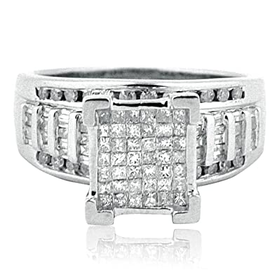 by white gold pure diamond rings ladies solitaire wedding cut brilliant engagement product