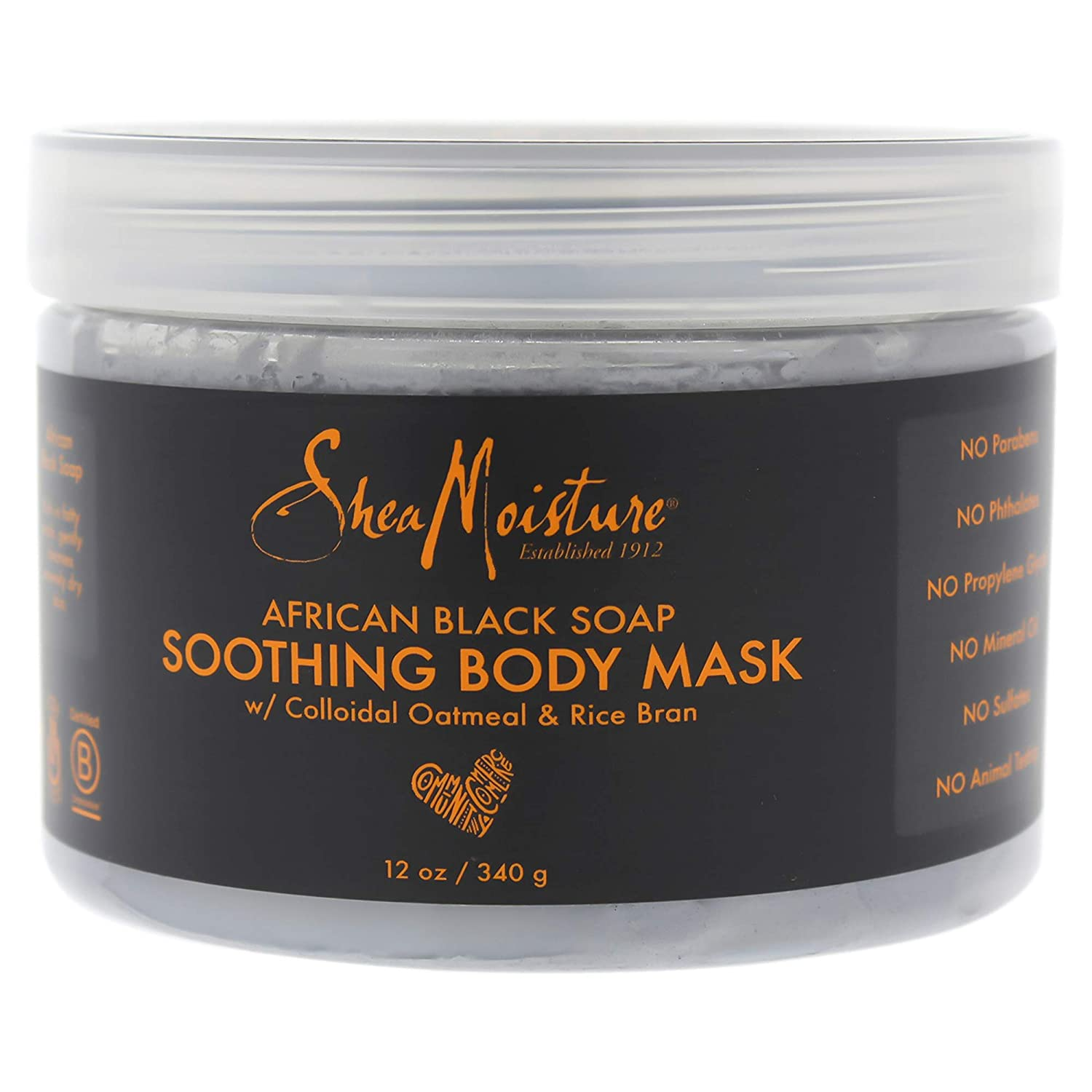 Shea Moisture African Black Soap Soothing Body Mask By Shea Moisture for Unisex - 12 Oz Mask, 12 Ounce PerfumeWorldWide Inc. Drop Ship I0084224