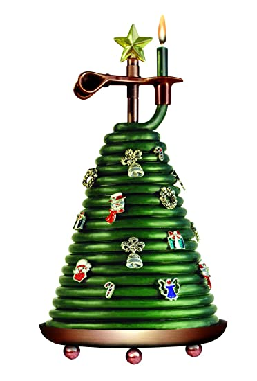 Candle by the Hour 80-Hour Christmas Tree Candle with 14 charms, Eco-