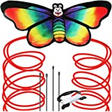 Rainbow Butterfly Kite for Kids - Beautiful Premier Kite, Easy to Assemble and Fly, Great for Beginners and Pro, Includes Spool, String and Ebook for Beach and Outdoor Fun Adventure