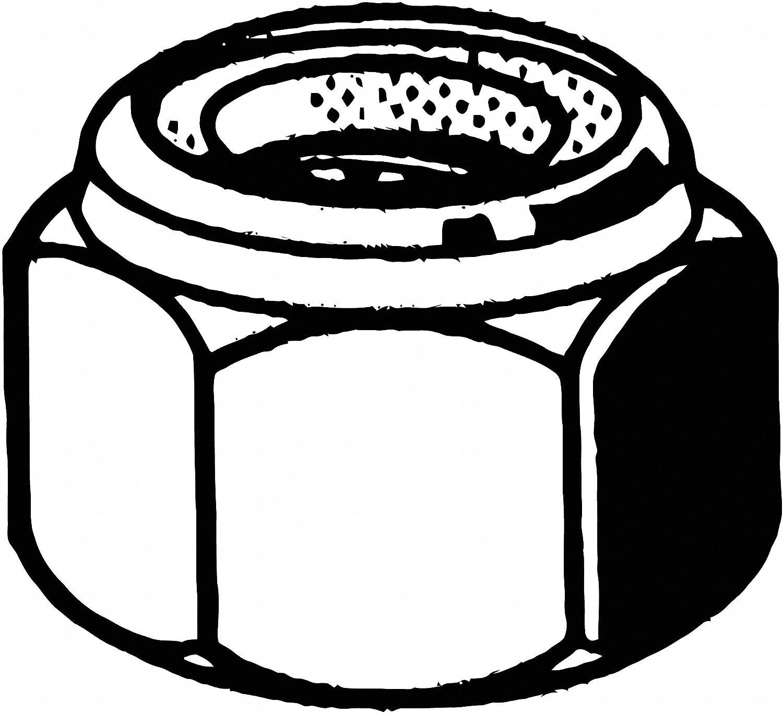 Right Hand ASME B18.16.6 Package of 11,100 Grade 2 Steel Zinc Plated Finish #6-32 Nylon Insert Lock Nut