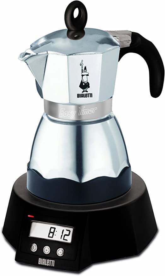 Bialetti CAFFETTIERA EASY TIMER - Cafetera (Negro, Acero ...