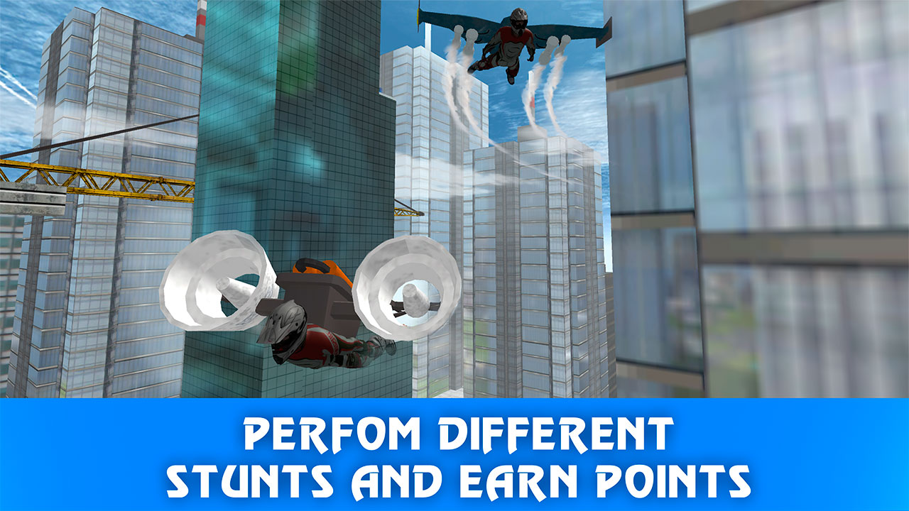 Skydiving Air Race: Skyscraper Jump | Extreme Stunts Jetpack ...