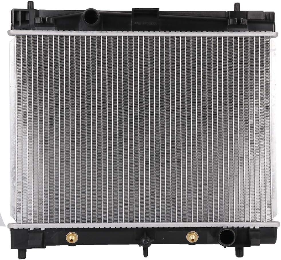 ECCPP Auto Parts Plastic Aluminum Replacement Radiator for 2006-2013 Toyota Yaris 1.5L CU2890 TO3010306,2890