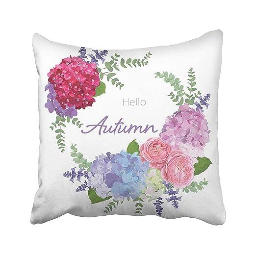 Abaysto - Funda de cojín con diseño de Flores y Flores de ...