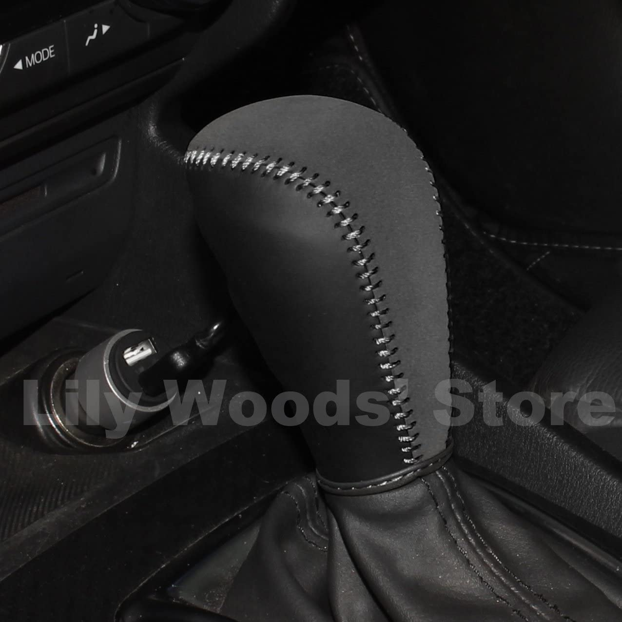 FITS MAZDA 6 GREY GEAR GAITOR SHIFT BOOT GENUINE LEATHER NEW